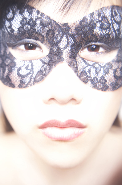 Girl with Lace Mask